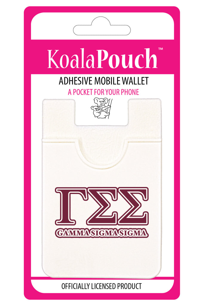 Gamma Sigma Sigma <br> Koala Pouch<br>Adhesive wallet for your phone
