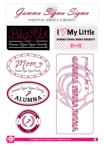 Gamma Sigma Sigma <br> Family Stickers