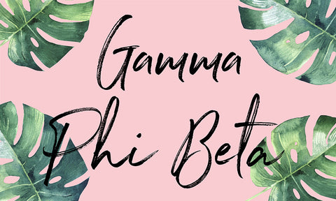 Gamma Phi Beta Tropical Flag