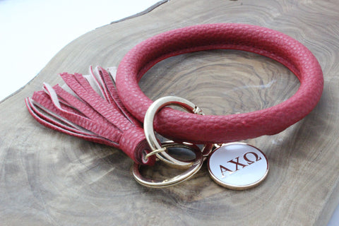 Alpha Chi Omega Bangle Sorority Keychain