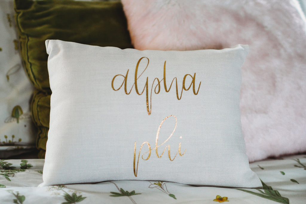 Alpha Phi Throw Pillow