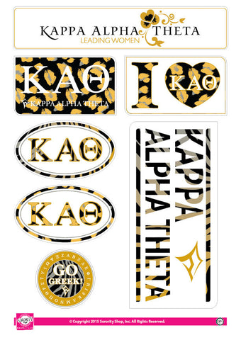 Kappa Alpha Theta <br> Animal Print Stickers