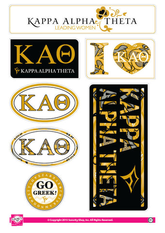Kappa Alpha Theta <br> Lifestyle Stickers