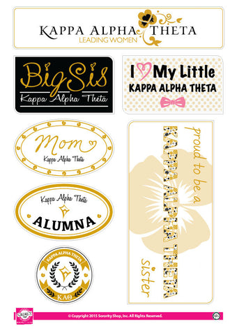 Kappa Alpha Theta <br> Family Stickers