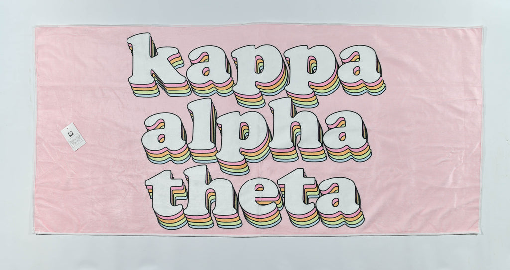 Kappa Alpha Theta Plush Retro Beach Towel