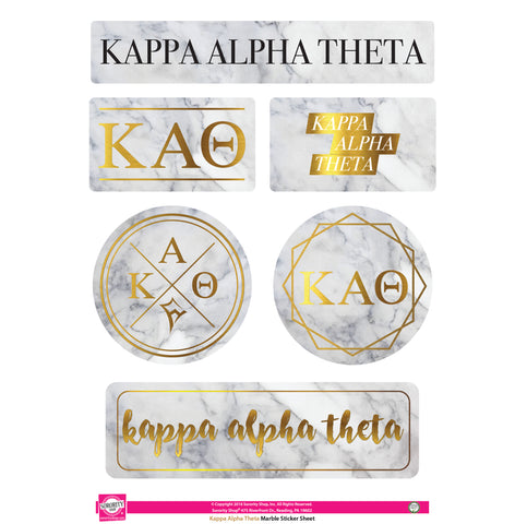 Kappa Alpha Theta <br> Marble Sticker Sheet