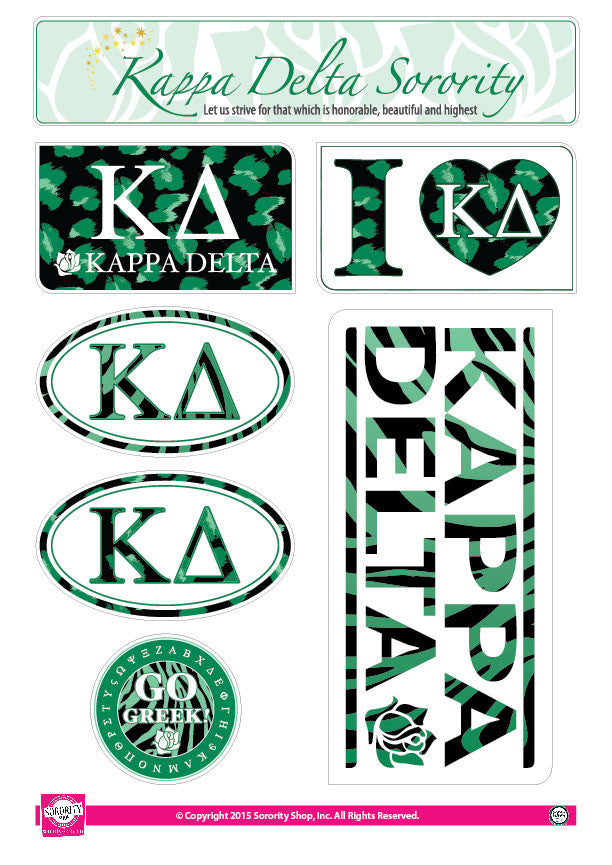 Kappa Delta <br> Animal Print Stickers