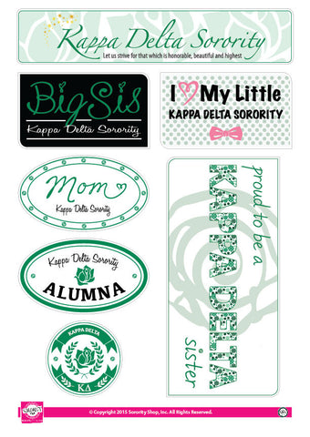 Kappa Delta <br> Family Stickers
