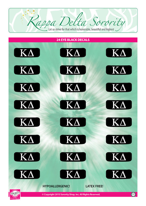 Kappa Delta Eye Black Decals
