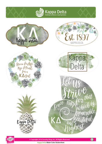 Kappa Delta <br> Water Color stickers