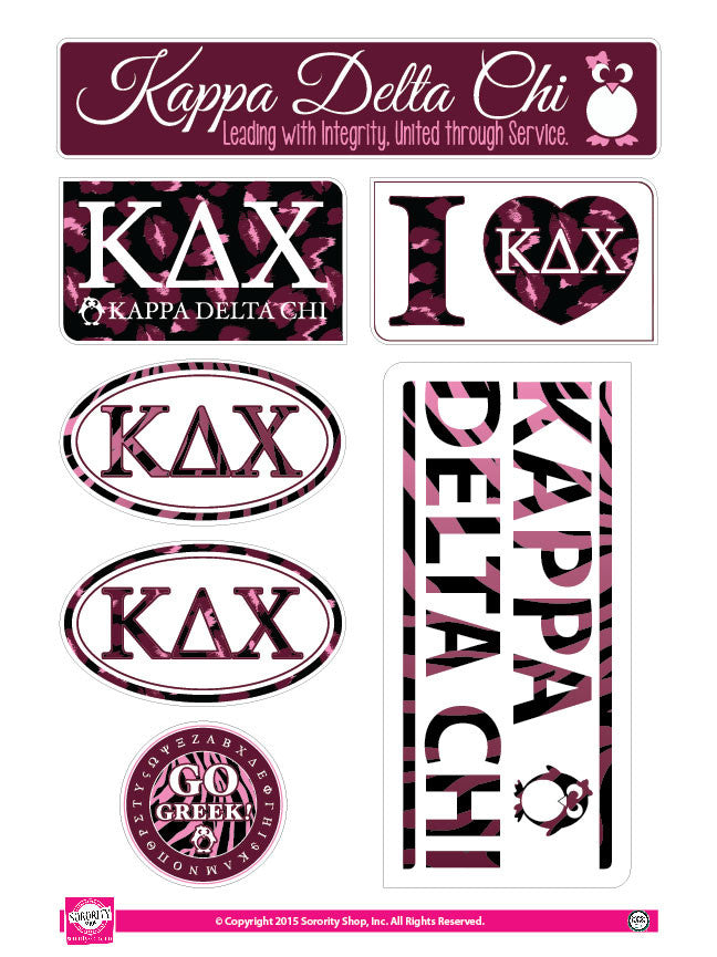 Kappa Delta Chi <br> Animal Print Stickers
