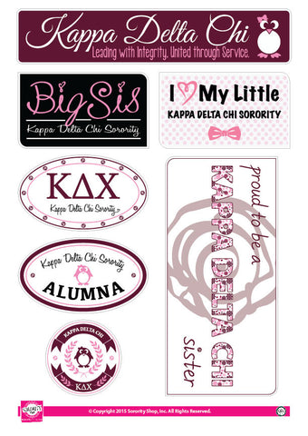 Kappa Delta Chi <br> Family Stickers