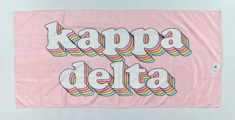 Kappa Delta Plush Retro Beach Towel