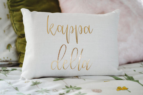 Kappa Delta Throw Pillow