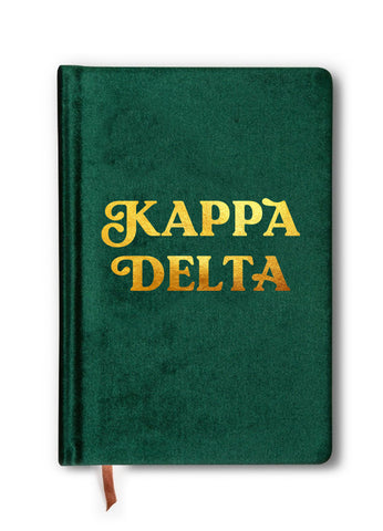 Kappa Delta Velvet Notebook with Gold Foil Imprint