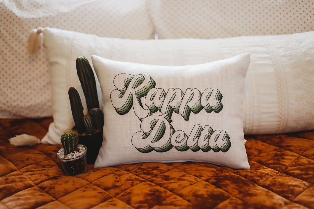 Kappa Delta Retro Throw Pillow