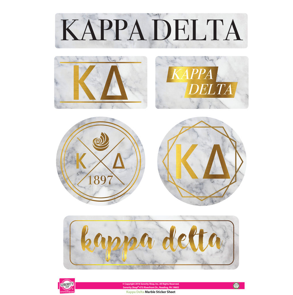 Kappa Delta Marble Sticker Sheet