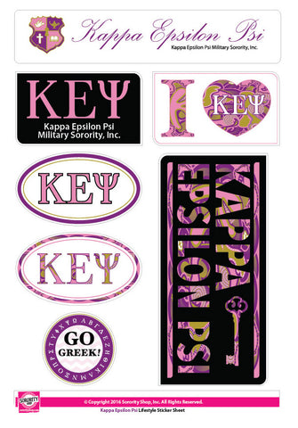 Kappa Epsilon Psi <br> Lifestyle Stickers
