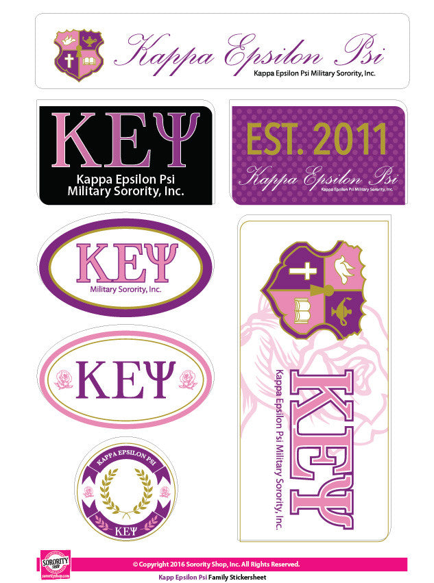 Kappa Epsilon Psi <br>Family Stickers