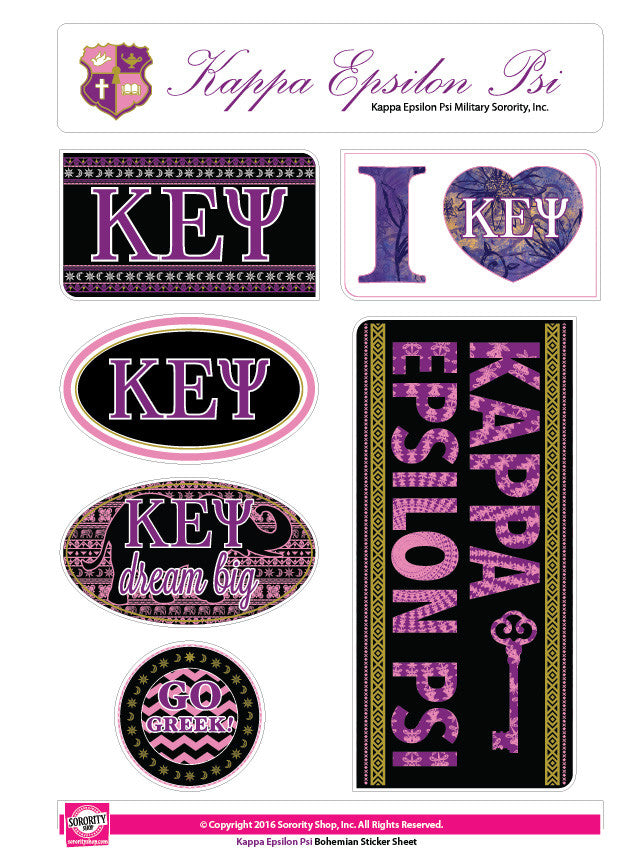 Kappa Epsilon Psi <br>Bohemian Stickers