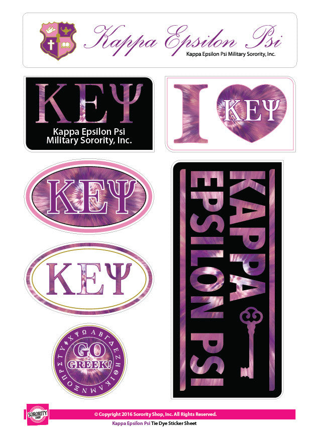 Kappa Epsilon Psi <br>Tie Dye Stickers