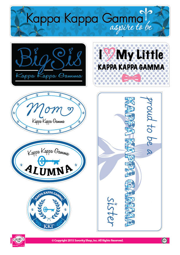 Kappa Kappa Gamma <br> Family Stickers
