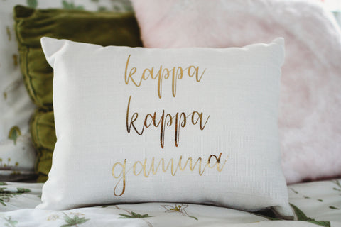 Kappa Kappa Gamma Throw Pillow