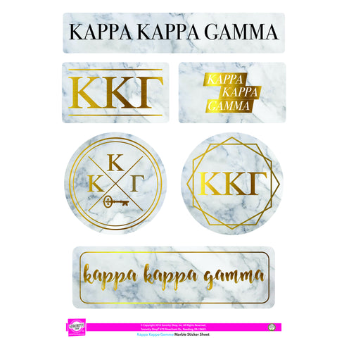 Kappa Kappa Gamma Marble Sticker Sheet