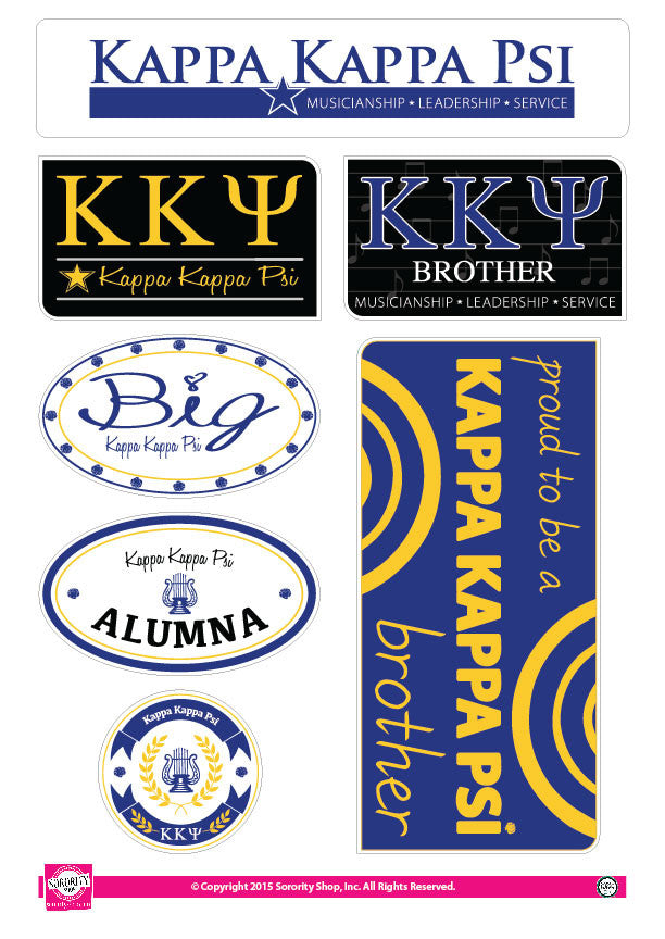 Kappa Kappa Psi <br> Family Stickers