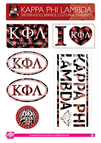 Kappa Phi Lambda <br> Animal Print Stickers