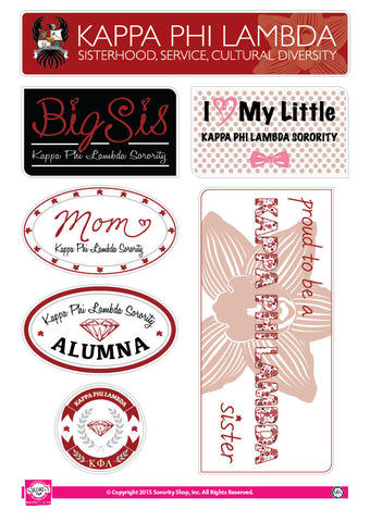 Kappa Phi Lambda <br> Family Stickers
