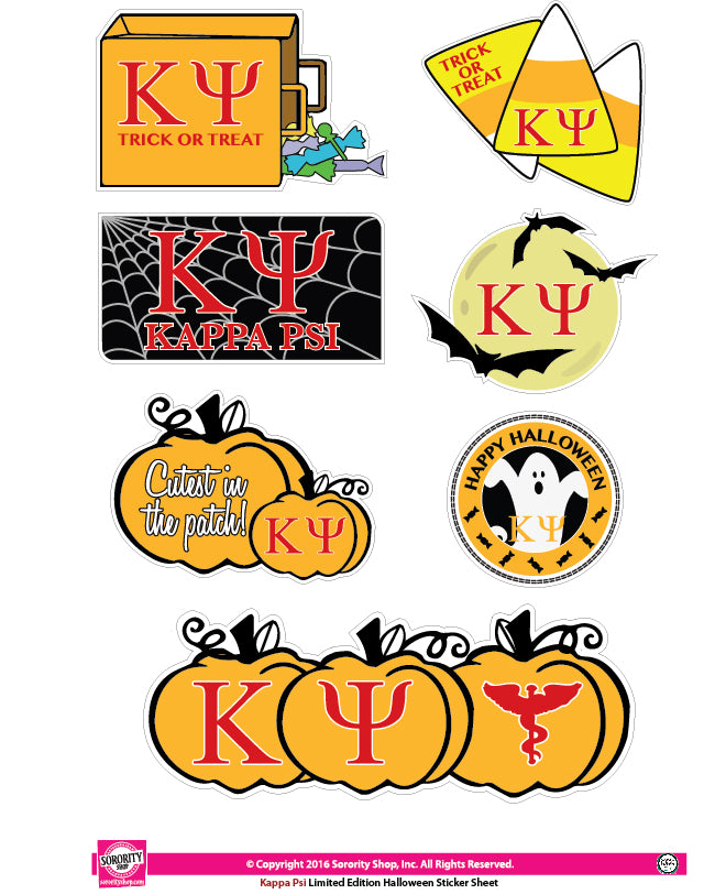 Kappa Psi Halloween Stickers