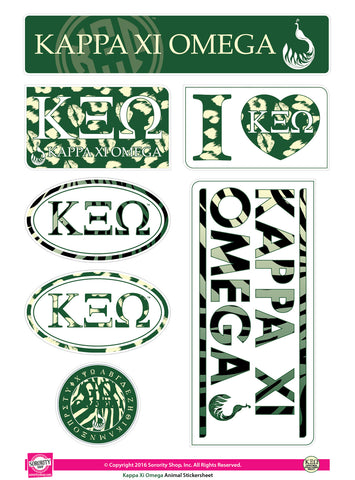 Kappa Xi Omega <br>Animal Print Stickers