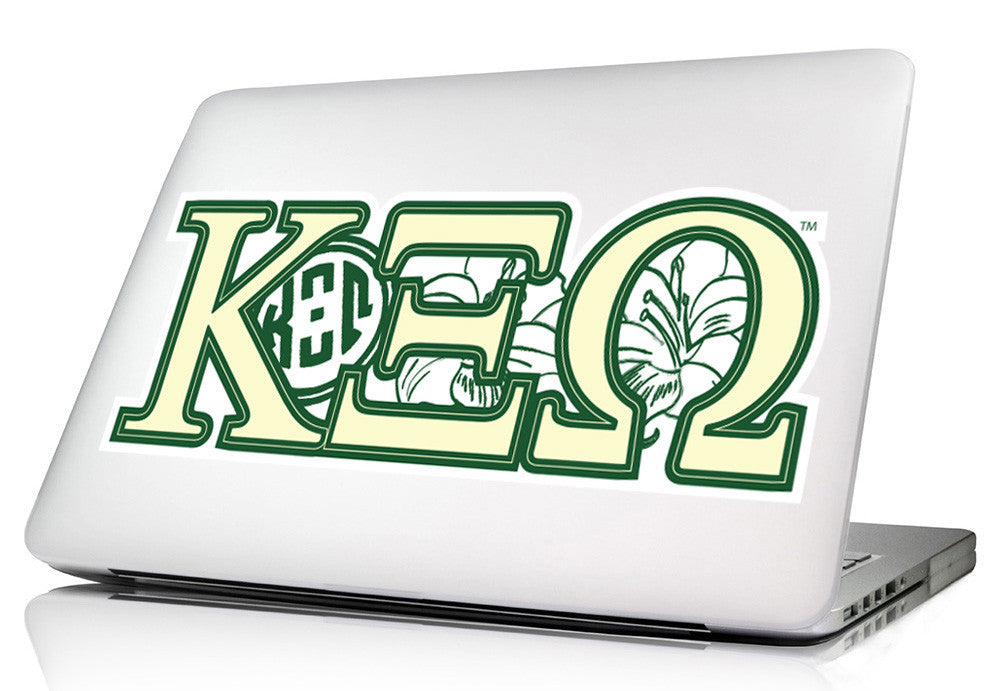 Kapp Xi Omega <br>11 x 4 Laptop Skin/Wall Decal