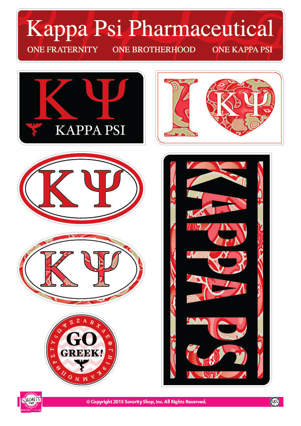 Kappa Psi <br> Lifestyle Stickers