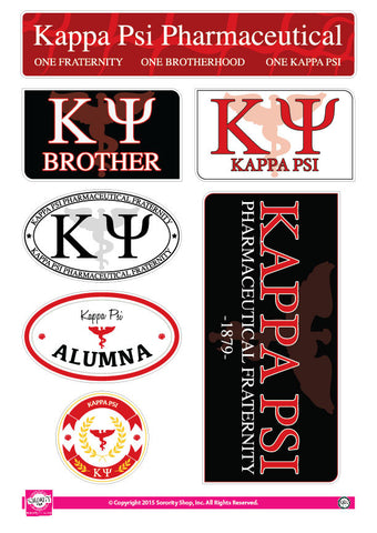 Kappa Psi <br> Family Stickers