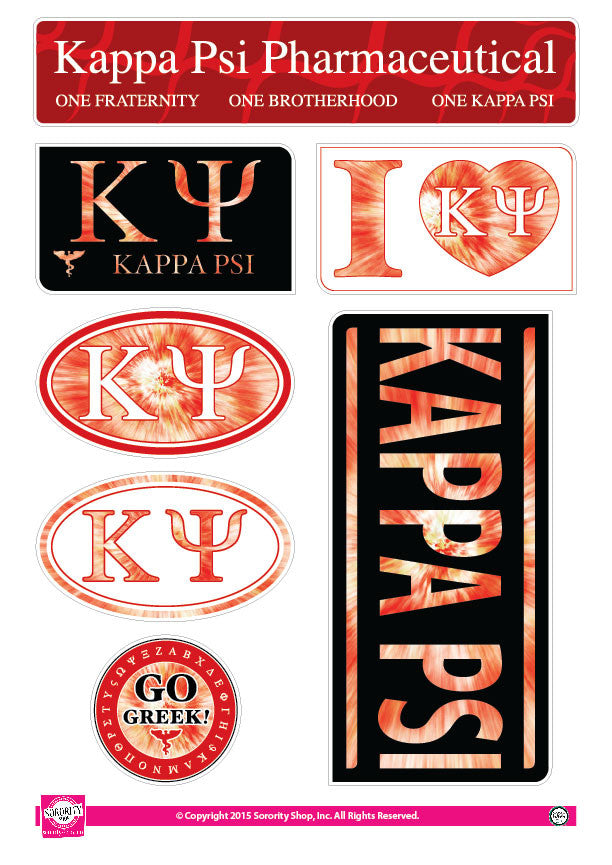 Kappa Psi <br> Tie Dye Stickers