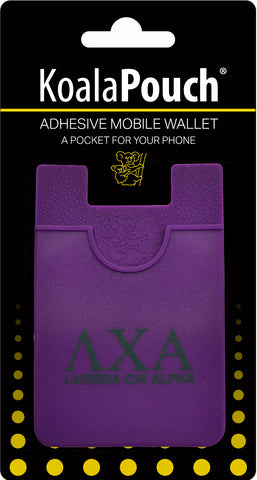 Lambda Chi Alpha <br> Koala Pouch<br>Adhesive wallet for your phone