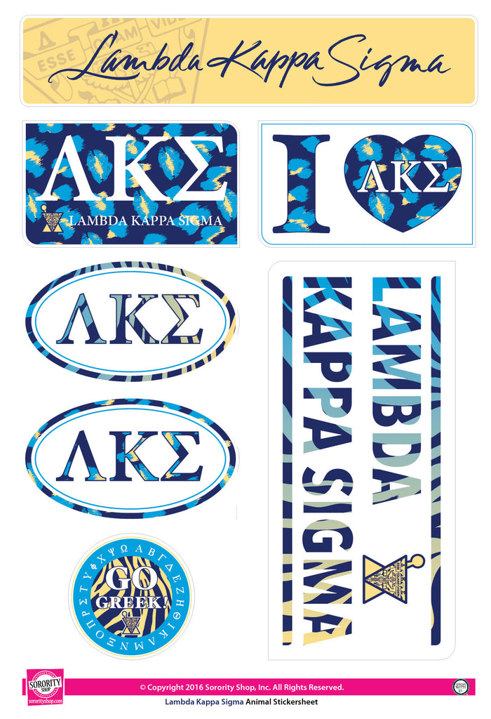 Lambda Kappa Sigma <br>Animal Print Stickers