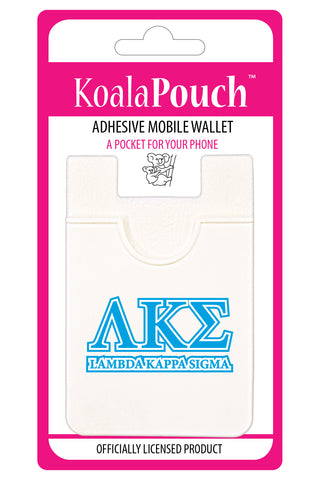 Lambda Kappa Sigma <br> Koala Pouch<br>Adhesive wallet for your phone