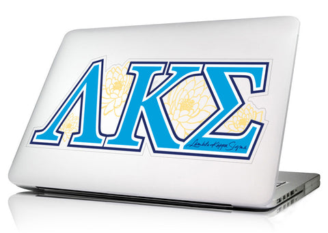 Lambda Kappa Sigma <br>11 x 4.25 Laptop Skin/Wall Decal