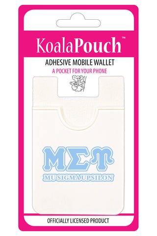 Mu Sigma Upsilon<br> Koala Pouch<br>Adhesive wallet for your phone