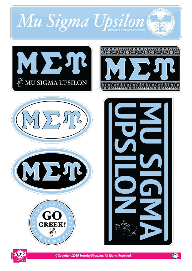 Mu Sigma Upsilon <br> Lifestyle Stickers