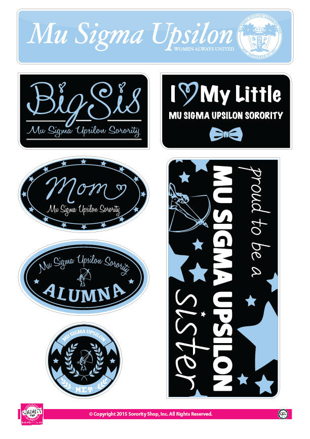 Mu Sigma Upsilon <br> Family Stickers