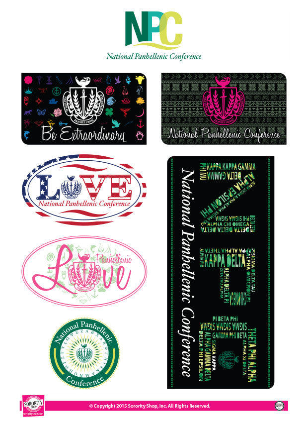 National Panhellenic Conference <br> Lifestyle Stickers