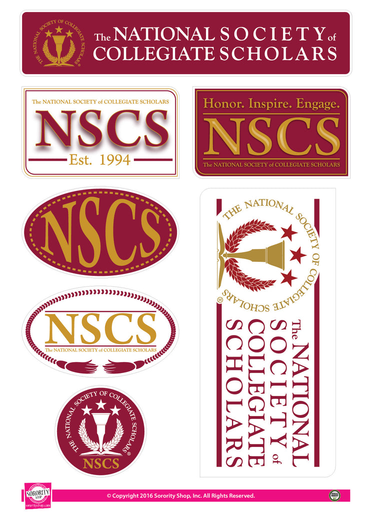 The National Society of Collegiate Scholars <br> Lifestyle Stickers