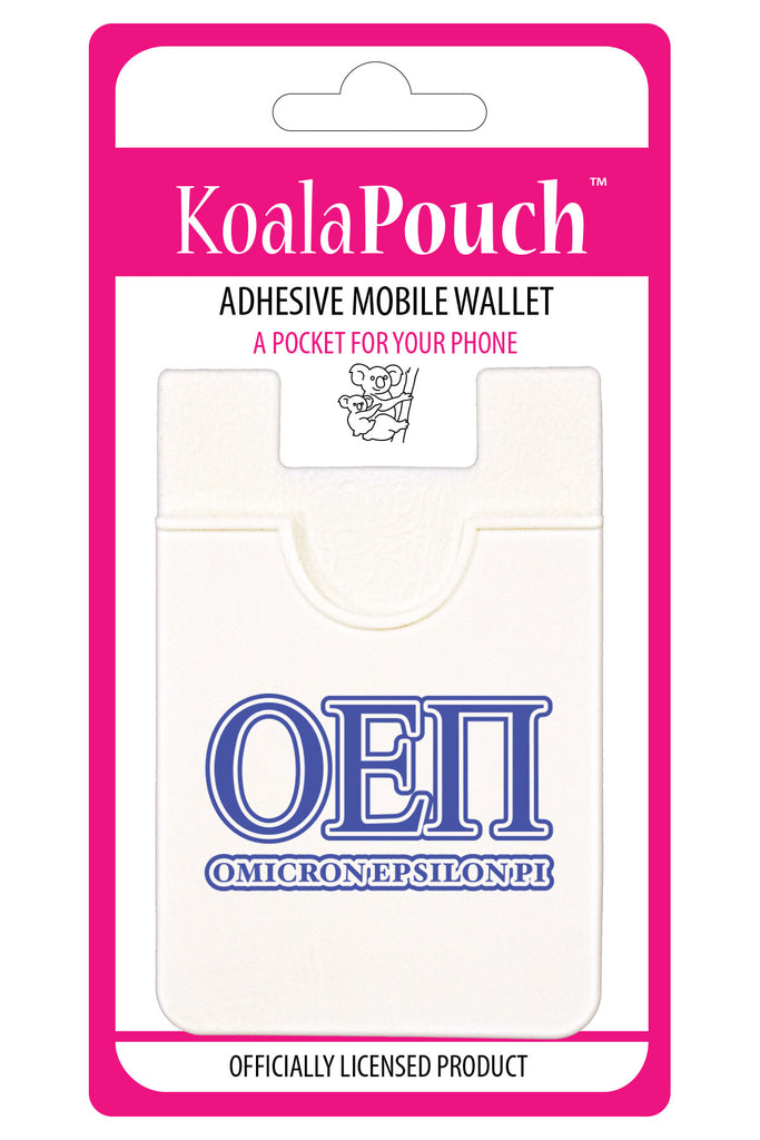 Omicron Epsilon Pi <br> Koala Pouch<br>Adhesive wallet for your phone