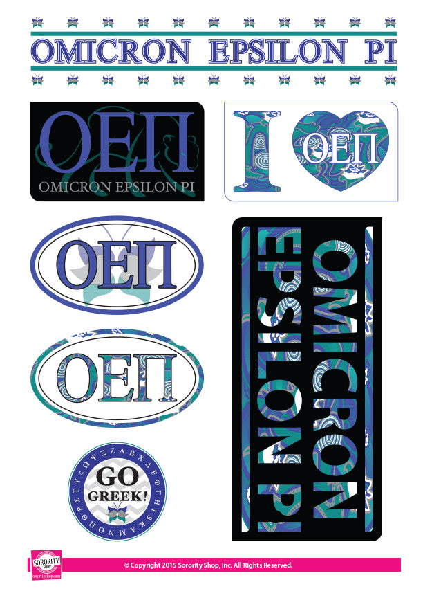 Omicron Epsilon Pi <br> Lifestyle Stickers