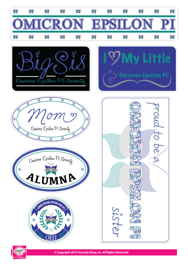 Omicron Epsilon Pi <br> Family Stickers