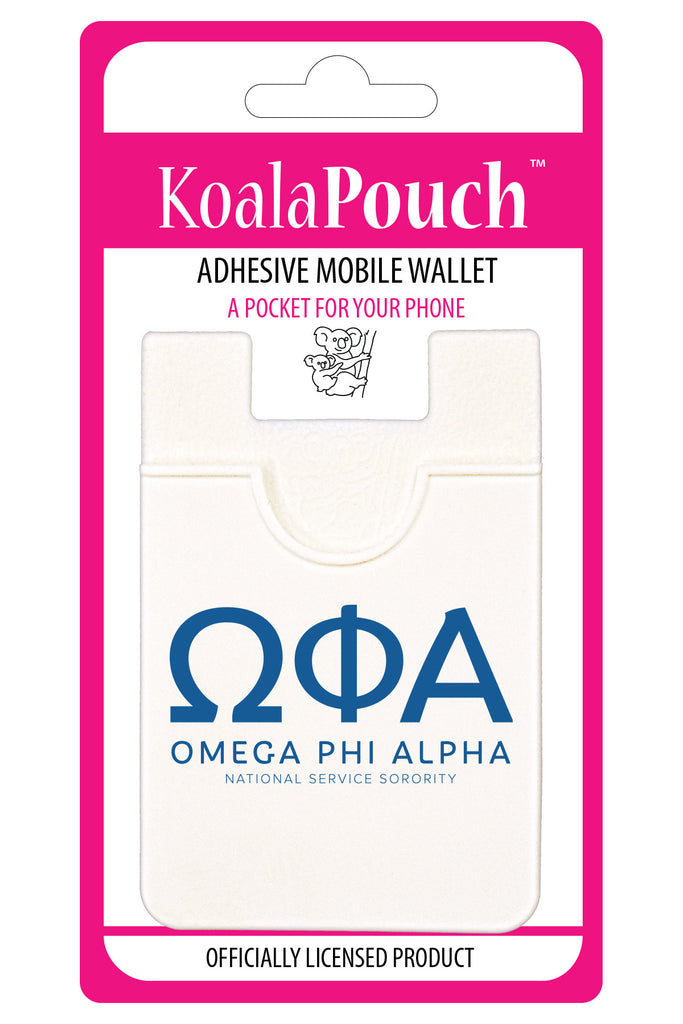 Omega Phi Alpha <br> Koala Pouch<br>Adhesive wallet for your phone